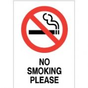 No Smoking safety sign - No Smoking Please 019